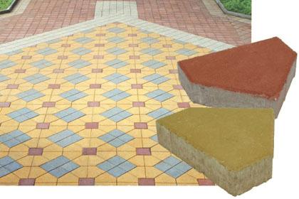 Тротуарная плитка Пятиугольник