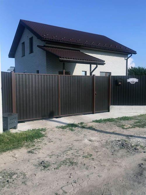 Забор из профнастила с воротами